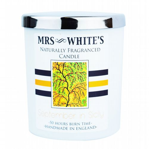 Mrs White's - Scented Candle - September in Sicily